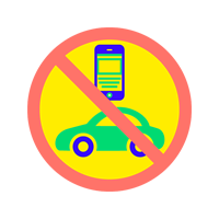 No Text While Driving Badge Badge