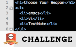 Challenge #3 Choose Your Weapon