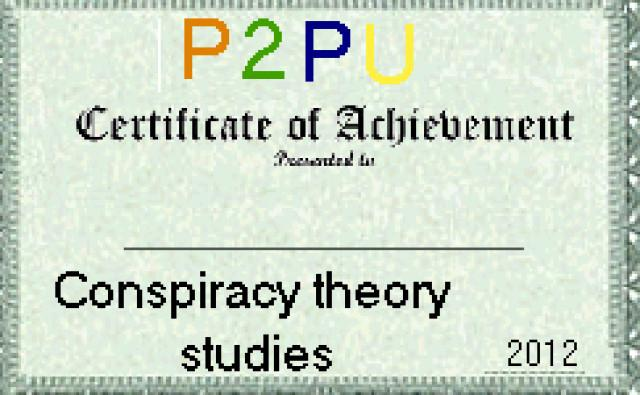 Certificate in conspiracy theory
