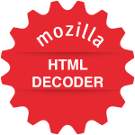 HTML Decoder Badge